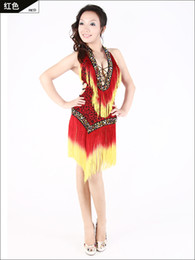 Wholesale Latin Dance apparel new women skirts and dresses fringed latin dancing costumes women wear skirt cos