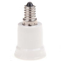 Wholesale 10pcs E14 Screw Cap to E27 Socket Base Adapter Converter Holder for LED Halogen CFL Light Bulbs