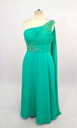 Wholesale 2013 Sexy Green A line Beaded Sequin Crystal Chiffon Plus Size Prom Evening Special Occasion Dresses