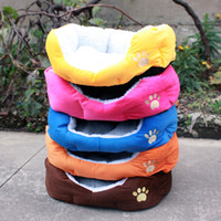 Wholesale colorful dog cat bed pet product SIZE S Soft material brown pink orange blue yellow
