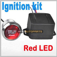 Wholesale Car Ignition Engine Push Start Push Starter Switch Red Color