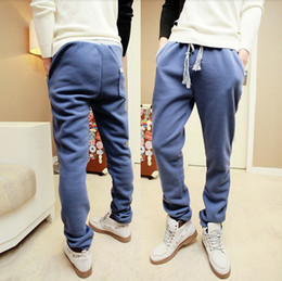 Wholesale 2013 spring new loose men s sports casual pants solid color elastic Wei pants