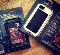 Wholesale New Lunatik Taktik Extreme Case Cover Premium gorilla glass Protection for iPhone G black red