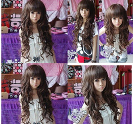 2013 Black Dark Brown Light Brown 3 Color Synthetic Full Lace Front Wig For Womens Long Human Hair