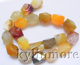 8SE04935a 13x18MM Botswana Agate Faceted Nugget Beads 15.5''
