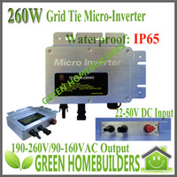 Wholesale Water proof IP65 LED display W Grid Tie Solar Micro Inverter VDC VAC for solar home system