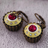 Wholesale latest fashion cupcake earring earrings