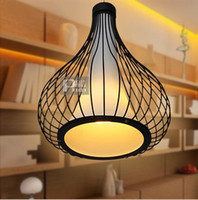 Wholesale Fashion pendant light restaurant single bar counter lamp pendant light PL021 Modern Wrought Iron Pendant Lamps Restaurant Hanging Lights Fas