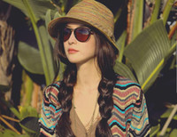 Wholesale Fashion Women SunHat Bohemia Style Colorful braided tassels cap Topee Homborg Hot Billycock