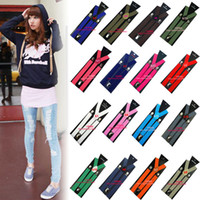 Wholesale Unisex Girls Boys Solid Plain Clip on Adjustable Elastic Y Back Braces suspenders Colors
