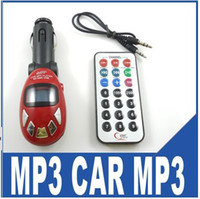 Wholesale 100pcs Car MP3 Player FM Transmitter remote controller audio cable retail package