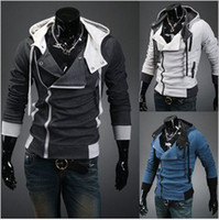 Jackets Men Cotton Hot New Assassin's Creed 3 Desmond Miles Hoodie Top Coat Jacket Cosplay Costume