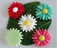 Wholesale MIC Resin Mixed Color Daisy flower Flatback mm