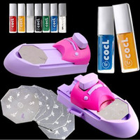 3D Molds Nail Art Tools  Wholesale - Nail Art Colors Drawing Polish Kit Stamper DIY Printer Nail Stamping Printing Machine