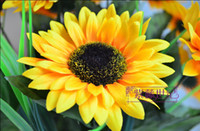 Wholesale High Simulation Flower heads Sunflowers Artificial Silk Flowers Home wedding Decoration