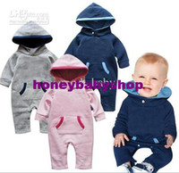 Wholesale Long sleeve baby rompers even cap rompers baby jumpsuit toddler sleepsuits good baby