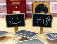 Wholesale Cute Special Gift Small wooden clip Wooden Blackboard Clip Paper Clip board Message Folders