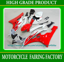 HOTslae red white black custom race Fairing kit for YAMAHA YZF R6 06 07 YZF-R6 YZFR6 2006 2007 RX1b