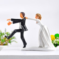 Wholesale Reluctant Groom Wedding Cake Topper