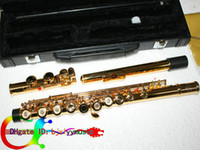 Wholesale NEW golden KEY hole Open hole The Flute Open hole flute music sheet music for flute