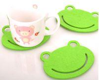Felt glass coasters - Fashion Felt Coaster Cup Pad Cup Mats Cup Coaster glass Coaster Frog shaped