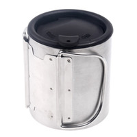 Wholesale Low Price ML Portable Stainless Steel Water Cup Silver for Camping Hiking Mountaineer