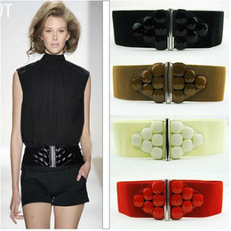 Lady Belts 12 Gems Elastic Belts Girdle 4 Colors Mixing