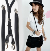 Wholesale Lady Suspenders New PU Leather Unisex Strap Women Strap Suspenders
