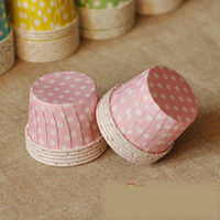 Wholesale Paper Cupcake Colorful Polka Dot FDA CM Cake Cup Miffin Cup Candy Cake Case