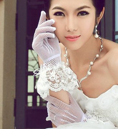 Wholesale g12 Wedding Bridal gloves Dress Wedding Accessories finger wrist net bridal gloves