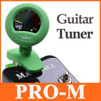 Wholesale LCD Digital Clip on Tuner and Metronome for Guitar Chromatic Bass Violin Ukulele with Retail Box