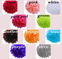 Wholesale 10 pc quot Tissue Paper Pom Poms Flower tissue balls paper lantern party wedding home Decoration