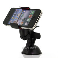 Wholesale 2pcs Black Bracket Universal Car Windshield Mount Holder Bracket GPS car accessory