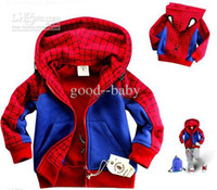 Boy 0-3 Months Spring / Autumn Spider-man modeling coats cool boys coats thicken Hooded jacket cartoon clothing 8pcs lot good--baby