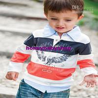 Boy 0-3 Months Spring / Autumn 2012 autumn clothing new boys sets 2pcs sets stripe shirts+jeans cool fashion 5sets lot good--baby