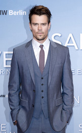 Wholesale 2013 Tailored Made Josh Duhamel Set Men Suit Tuxedo Jacket pants waistcoat shirt