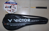 Wholesale 100 Carbon Fiber victor badminton racket Brave Sword LYD with badminton string pieces