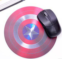 Wholesale Lowest Price America captain frosted mouse pad round foam mouse cup mat insulation cup mat