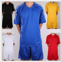 Wholesale Customized Blank Soccer Jersey Shirts Football Jerseys Tops With Shorts Sets Uniform