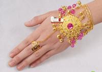beautiful diamond rings sale - HOt sale Beautiful tribal style belly dance accessories new jewelry Diamond Ring Bracelet women wear costumes belly dance bracelet