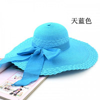 Red big grasses - Fashion Women s Big Hot selling Beach Hat Sun hats cap Straw hats Grace