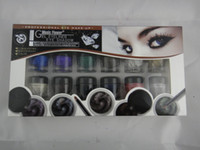Wholesale 12pcs pack GEL eyeliner eye shadow colors gel cream makeup waterproof rich black brown blue