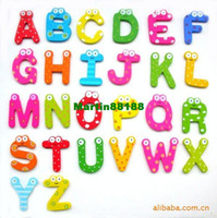 Wholesale 130pcs Letter stickers large English letters wooden magnetic fridge magnet fridge magnet early educati