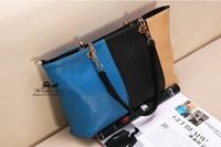 Wholesale hot EUR USA Handbags Fashion Hit color Retro Leisure Ms Shoulder Diagonal Handbag