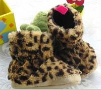 Wholesale (6-9M) 14 yards Fur Baby boots leopard grain quality warm skid a toddler boots, plush boots 12pcs r08