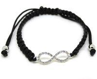 shamballa - multi candy color fluorescence crytal infinity charm bracelet braid shamballa infinite bracelets cheap