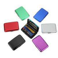 Wholesale 400 Waterproof Business ID Credit Card Wallet Holder Aluminum Metal Case Box