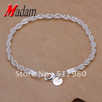 Wholesale GSSPH207 silver twisted bracelets fashion jewelry Nickle free antialler