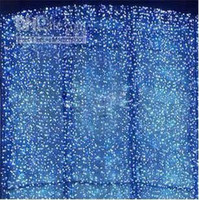Christmas background decorations - LED lights bulbs M M M Curtain Lights Christmas ornament Flash Colored Fairy wedding Decoration LED Strip background L102