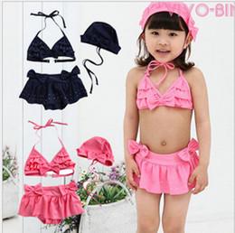 baby swimsuit kids swimwear lovely bikini fission swim Hot drilling bathing suit summer wear